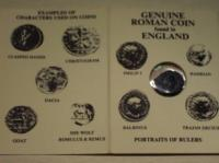 Original Roman Coin in Folder