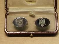 1st Royal Dragoons solid Sterling Silver cufflinks