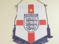 England hand embroidered pennant