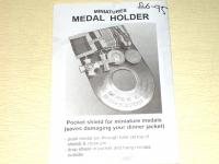 Miniature medal holder for dinner jacket pocket