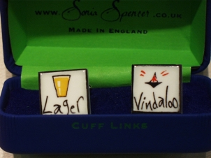Lager Vindaloo cufflinks - Click Image to Close
