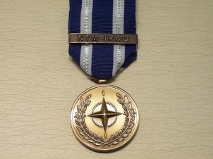 NATO bar NTM-IRAQ full size medal - Click Image to Close