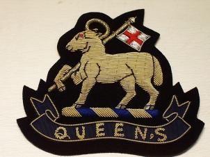 West Surrey Gold lamb and Queens blazer badge - Click Image to Close