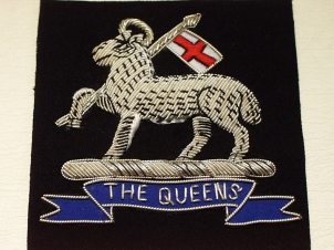 West Surrey Silver lamb and Queens blazer badge - Click Image to Close