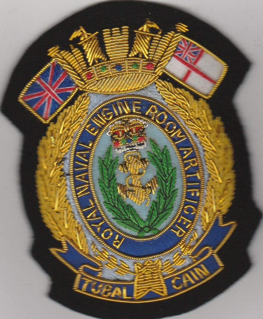 RN Engine Room Artificer blazer badge